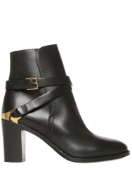 Fratelli Rossetti 80Mm Belted Calf Leather Ankle Boots Black
