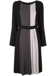 Steffen Schraut Striped Belted Dress Black