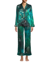 Morpho Luna Tom Gallant Ines Forest Classic Pajama Set Green Pattern