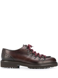 Doucal's Phil Lace Up Derby Shoes Brown