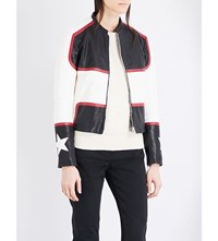 Belstaff Whitaker Leather Jacket Black White Red