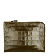 Tom Ford Croc Embossed Leather Portfolio Green