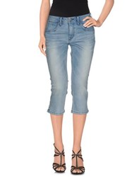 Burberry Brit Denim Denim Capris Women Blue