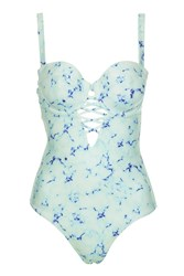 Topshop Fuller Bust Swimsuit By Wolf And Whistle Mint