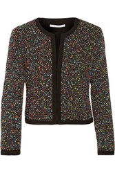 Diane Von Furstenberg Emery Boucle Tweed Jacket Black