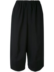 Comme Des Garcons Wide Cropped Trousers Women Wool M Black