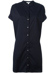 James Perse Plain Shirt Dress Blue