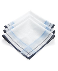 Club Room Handkerchiefs 3 Pack Handkerchief Box Set Blue