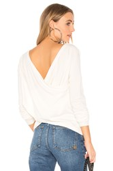 Central Park West Zion Crossed Back Sweater Ivory