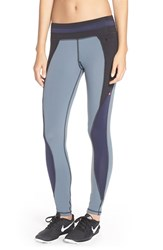 Women's Pink Lotus 'Up 2 Blocks' Colorblock Leggings