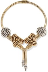 Etro Gold And Silver Tone Necklace One Size