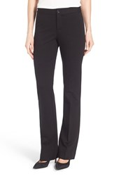Nydj Petite Women's 'Michelle' Stretch Ponte Trousers Black