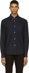 Band Of Outsiders Deep Navy Emboidered Monogram Shirt