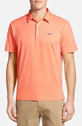 Men's Patagonia 'Trout Fitz Roy' Organic Cotton Polo Peach Sherbet
