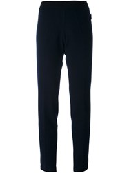 Moncler Knitted Track Pants Blue