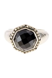 Judith Jack Sterling Silver Black Agate Ring Size 7 Metallic