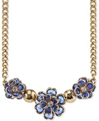 2028 Gold Tone Triple Flower Statement Necklace Only At Macy's