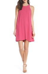 Charles Henry Bow Back Sleeveless Trapeze Dress Magenta
