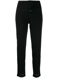 Closed High Waisted Cropped Jeans Black