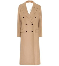 Joseph New Arlon Wool And Cashmere Coat Beige