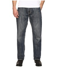 Rock And Roll Cowboy Jeans With Embroidery In Medium Wash M0t8544 Medium Wash Men's Jeans Navy
