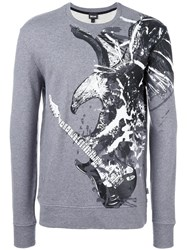Just Cavalli Eagle Print Sweatshirt Grey