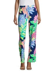 Lilly Pulitzer Georgia May Palazzo Pants Resort Navy Travelers Palm