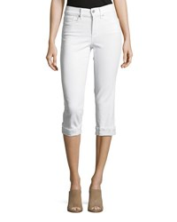 Nydj Marilyn Cropped Denim Jeans With Rolled Cuffs Optic White
