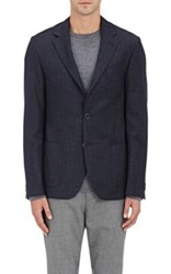 Barneys New York Men's Wool Silk Melange Sportcoat Navy