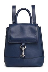 Rebecca Minkoff Woman Textured Leather Backpack Navy