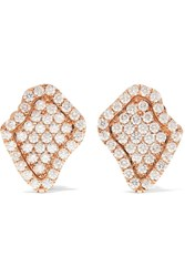 Kimberly Mcdonald 18 Karat Rose Gold Diamond Earrings One Size