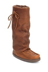 Manitobah Mukluks Genuine Sheepskin Footbed Tall Gatherer Mukluk Brown