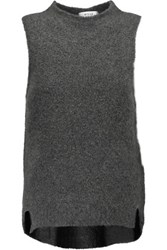 Milly Cloud Cashmere Blend Sweater Anthracite