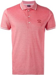 Paul And Shark Logo Polo Shirt Red