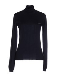 Armani Jeans Knitwear Turtlenecks Women Dark Blue