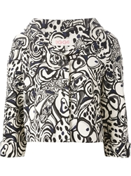 Eggs Stylized Print Jacket