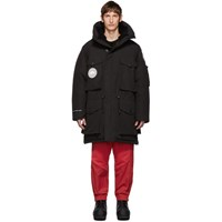 Juun.J Black Canada Goose Edition Down Expedition Parka