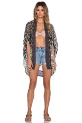 Camilla Open Front Cardigan Black