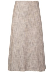 Theory A Line Skirt Brown
