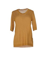 Momoni Momoni Knitwear Short Sleeve Jumpers Women Dark Brown