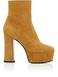 Saint Laurent Women's Candy Platform Boots Brown