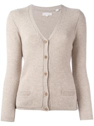 Chinti And Parker V Neck Cardigan Nude Neutrals