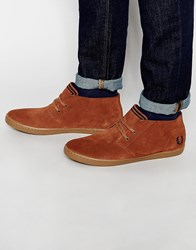 Fred Perry Byron Mid Suede Sneakers Brown
