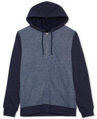 Jem Men's Marled Zip Up Hoodie Navy