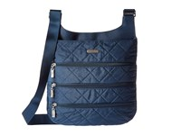 Baggallini Quilted Big Zipper Bag With Rfid Slate Quilt Bags Blue
