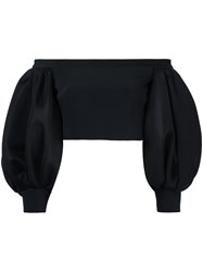 David Koma Off The Shoulder Crop Top Black
