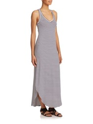 Feel The Piece Gia Striped Racerback Maxi Dress Navy White