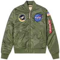 Alpha Industries Ma 1 Vf Nasa Jacket Green