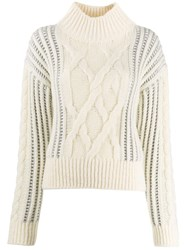 Pinko Roll Neck Sweater White