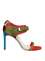 Preen Surfer Stiletto Suede Sandals